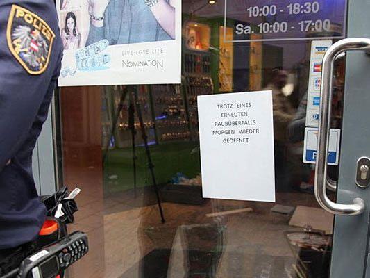 Auch nach dem zweiten Überfall bleibt der Juwelier in Landstraße nur kurz geschlossen