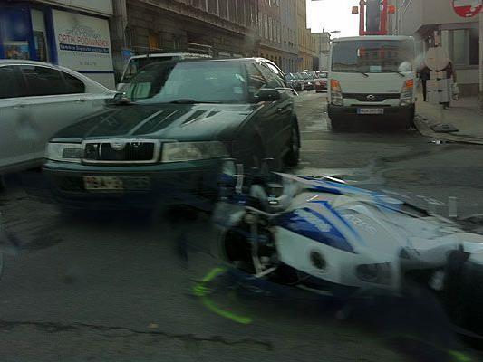 Unser Leserreporter hat auf der Triester Straße in Favoriten einen Unfall beobachtet