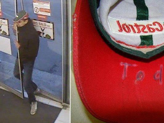 Bei den Überfällen in Ottakring verlor der Täter eine ungewöhnliche Baseball-Kappe