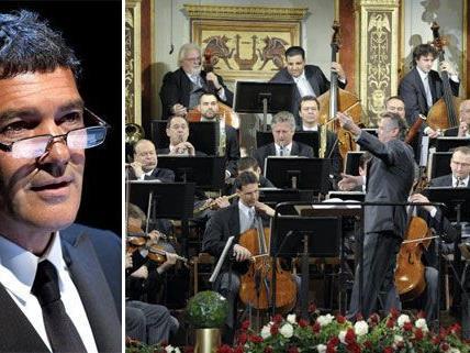 Antonio Banderas wird ebenso zu den Klängen der Philharmoniker lauschen.