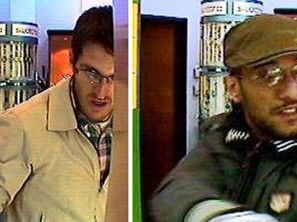 Diese beiden Männer sollen am Dinestag einen Juwelier auf der Landstraßer Hauptstraße überfallen haben.