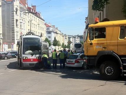 Straßenbahnunfall am Freitag in Wien-Meidling.