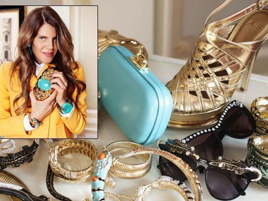 Die H&M-Kollektion von Anna Dello Russo umfasst Schmuck, Sonnenbrillen, Schuhe und Taschen.