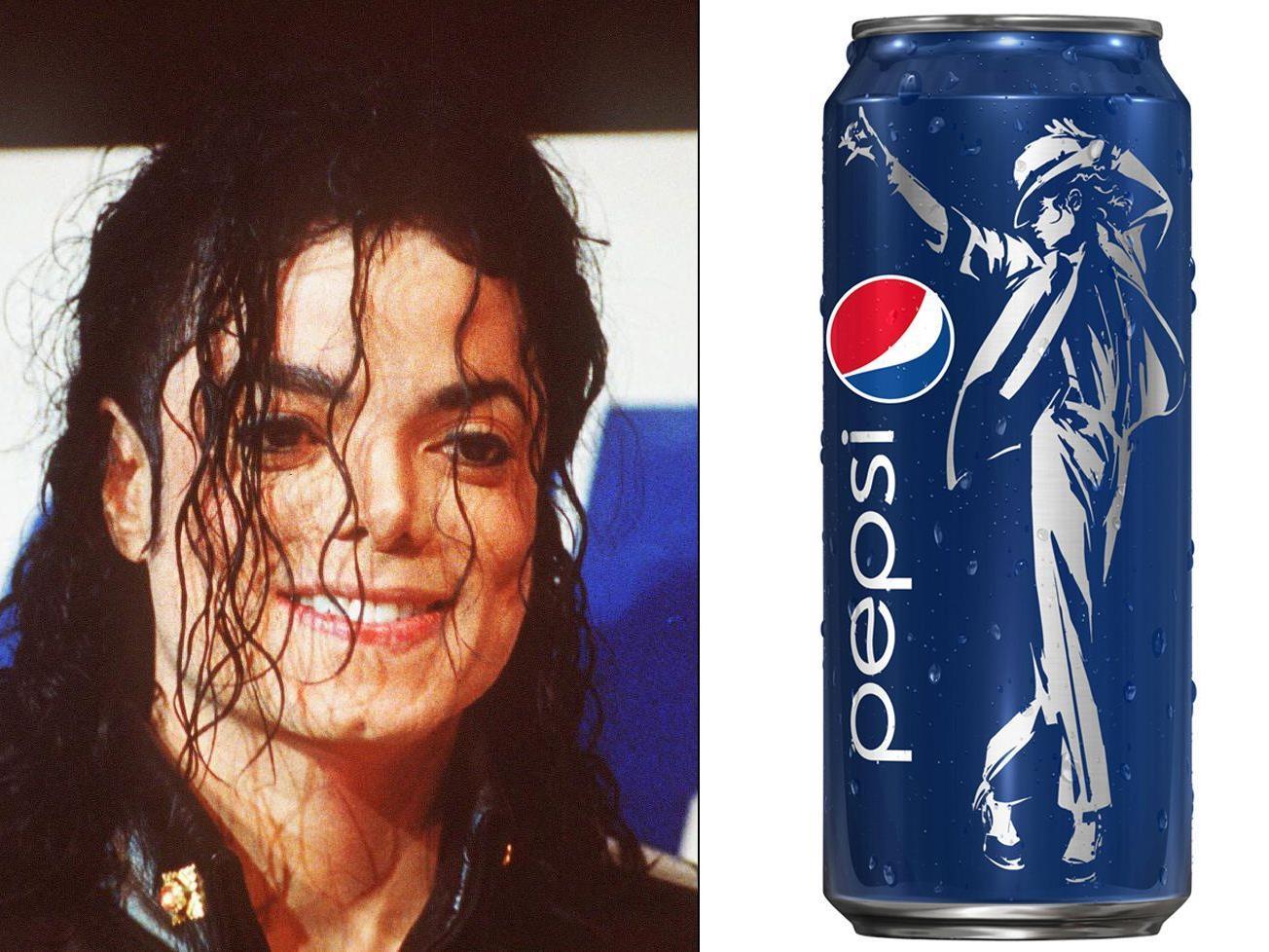"""Der """"King of Pop"""" wirbt für Pepsi."""