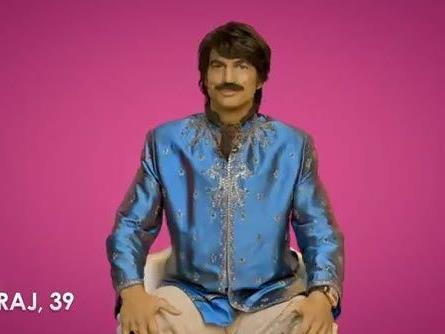 Ashton Kutcher als Inder verkleidet.