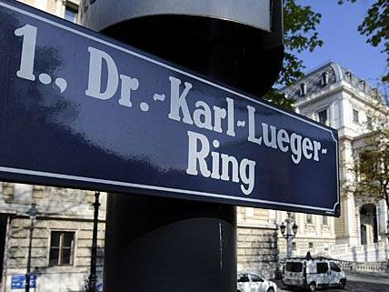 Im Herbst werden alle Straßenschilder am Lueger-Ring ausgetauscht.