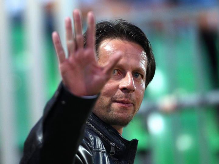 Bundeslige SV Mattersburg - SK Rapid Wien: Im Bild der Trainer von Rapid, Peter Schöttel.