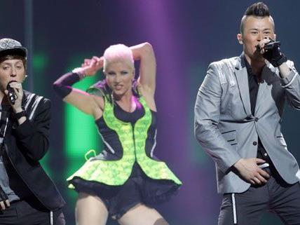 Die Trackshittaz scheiterten am Dienstag im Halbfinale des Eurovision Song Contests.
