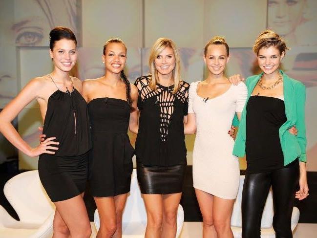 """Sarah-Anessa, Luisa, Dominique und Kasia sind die Finalistinnen von """"Germany's Next Topmodel""""."""