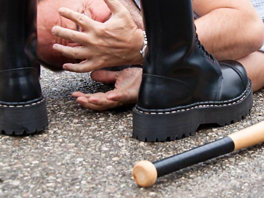 Mit einem Schlagstock wurde das Opfer in Donaustadt attackiert