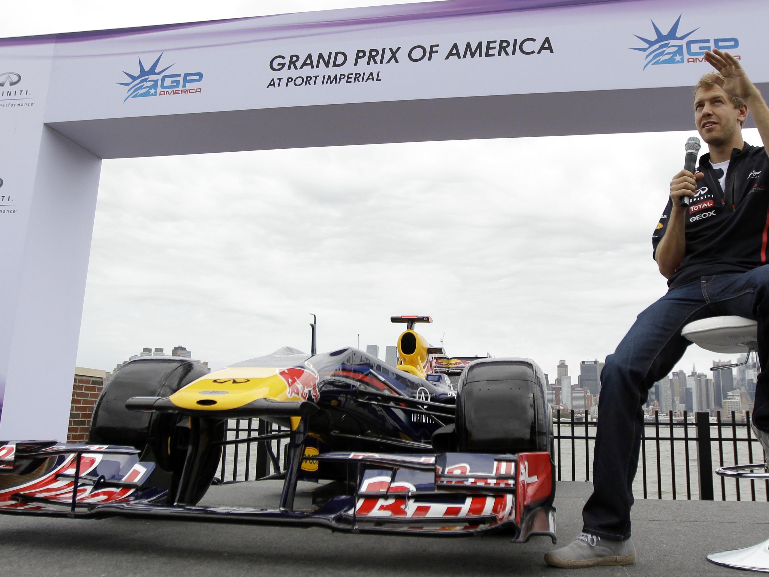 Vettel testet Formel-1-Kurs in New York