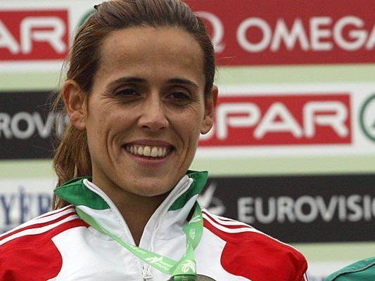 Frauenlauf-Siegerin Dulce Felix bei den European Cross Country Championships im Dezember in Slowenien