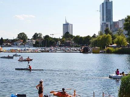 Wiens Oase direkt am Wasser: Die Alte Donau.