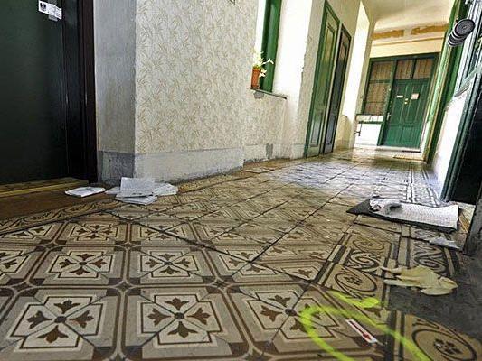 In diesem Wohnhaus in Wien 15 fielen die Schüsse