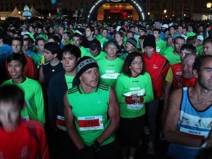 Tausende Läufer werden beim Vienna Night Run am 29. September 2012 erwartet.