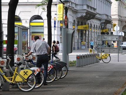 Rund um die Uhr sind die Wiener Citybikes verfügabr - dafür gab es im Test eine gute Bewertung.