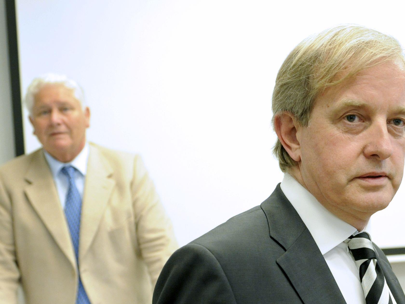 Johannes Steinhart (r.) und Walter Dorner (l.)
