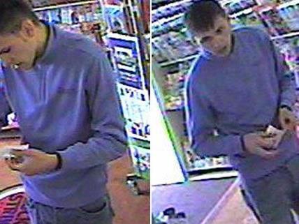 Die Polizei bittet um Hinweise auf diesen Mann, der in Favoriten einen gestohlenen Lottoschein einlöste.