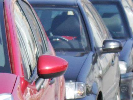 Nach dem Tritt gegen den Außenspiegel des Polizeiautos begann der Randalierer auf weitere Autos einzuschlagen.