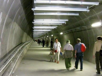 """Der Lainzer Tunnel ist nun fertig und lud zum """"Tag der offenen Tür""""."""