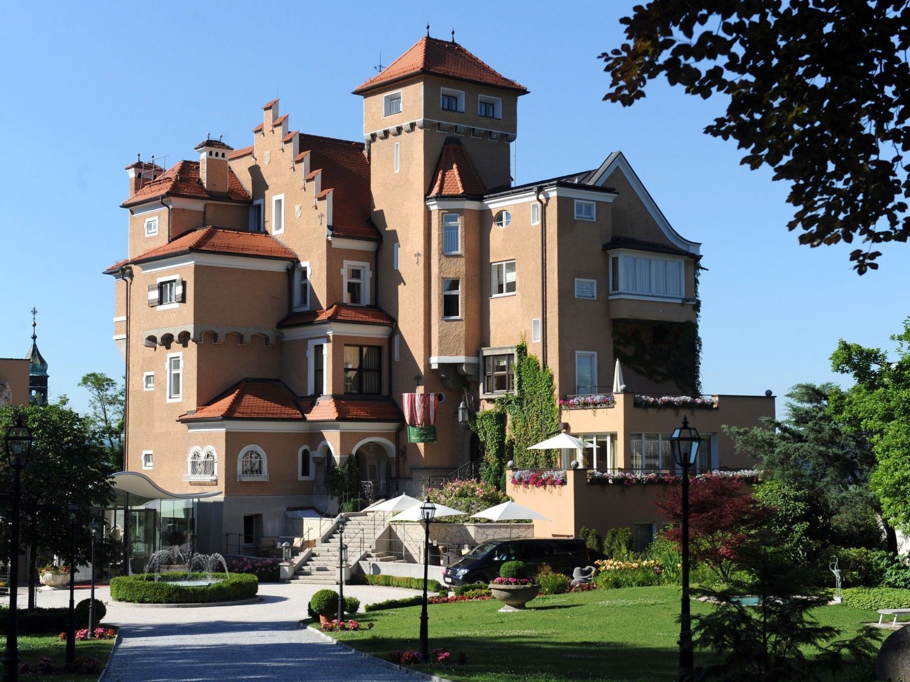 Das Hotel Mönchstein am Mönchsberg.