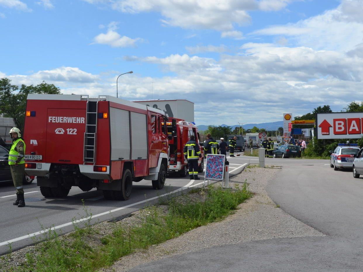 Verkehrsunfall auf der B21
