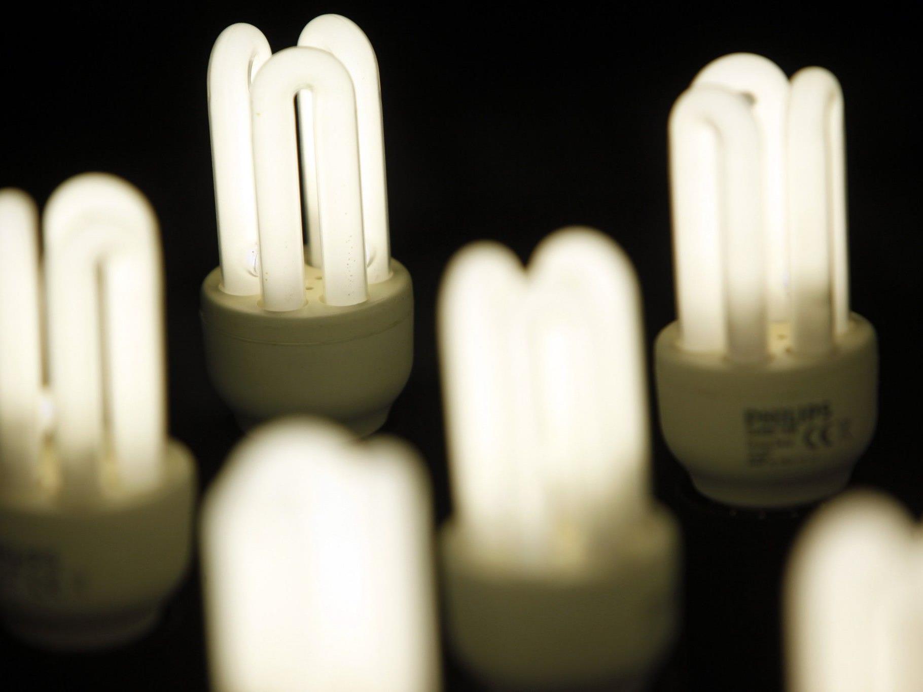 Haben es in sich: Energiesparlampen.