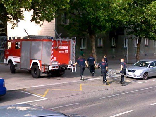 Die Feuerwehr musste in Wien-Penzing mit einer Leiter ausrücken