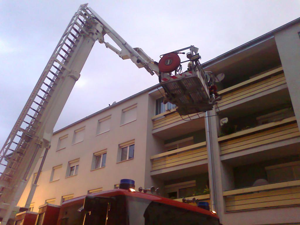 Eine Küche in Mattersburg stand in Flammen