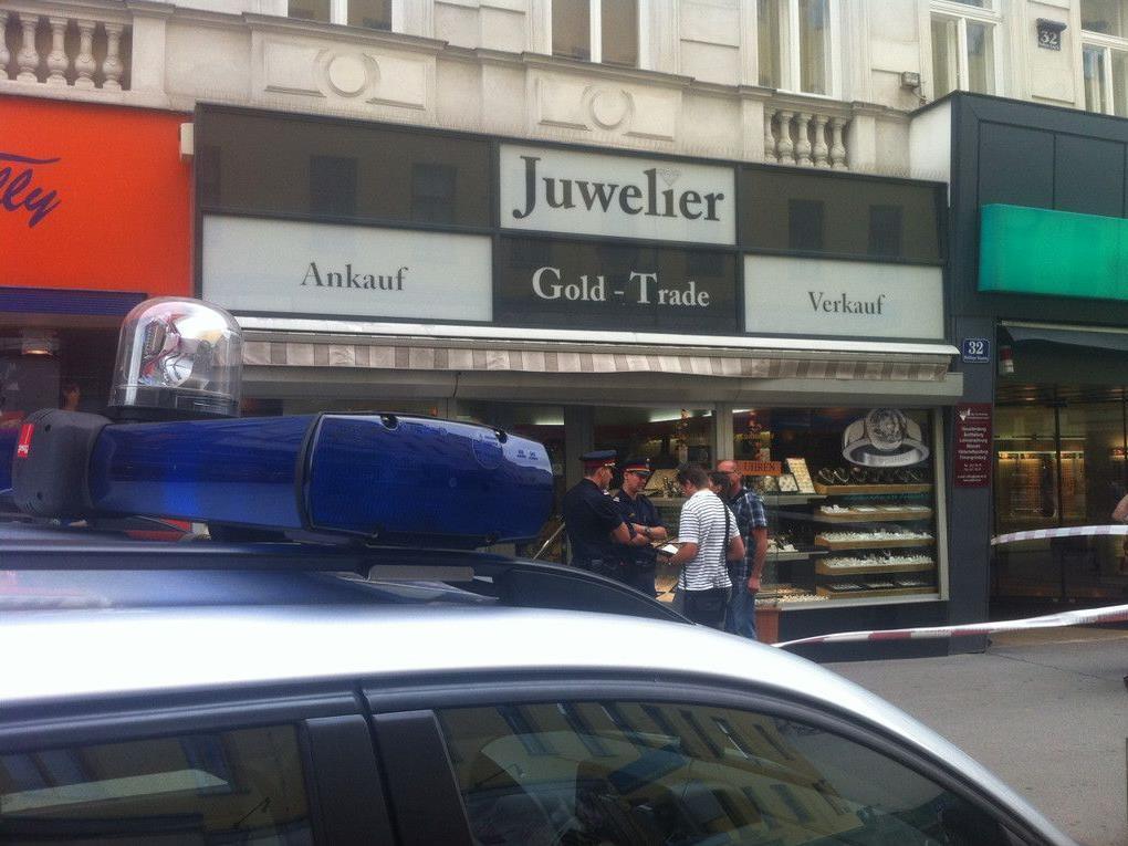 Dieser Juwelier in der Meidlinger Hauptstraße wurde überfallen