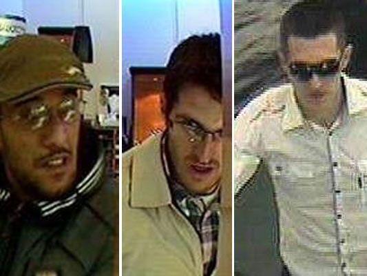 Diese Männer werden in Zusammenhang mit Überfällen auf Juweliere gesucht