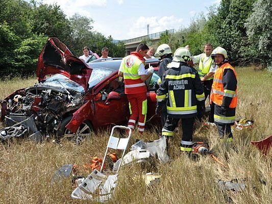 Bei dem schweren Unfall in Mödling wurden vier Personen verletzt