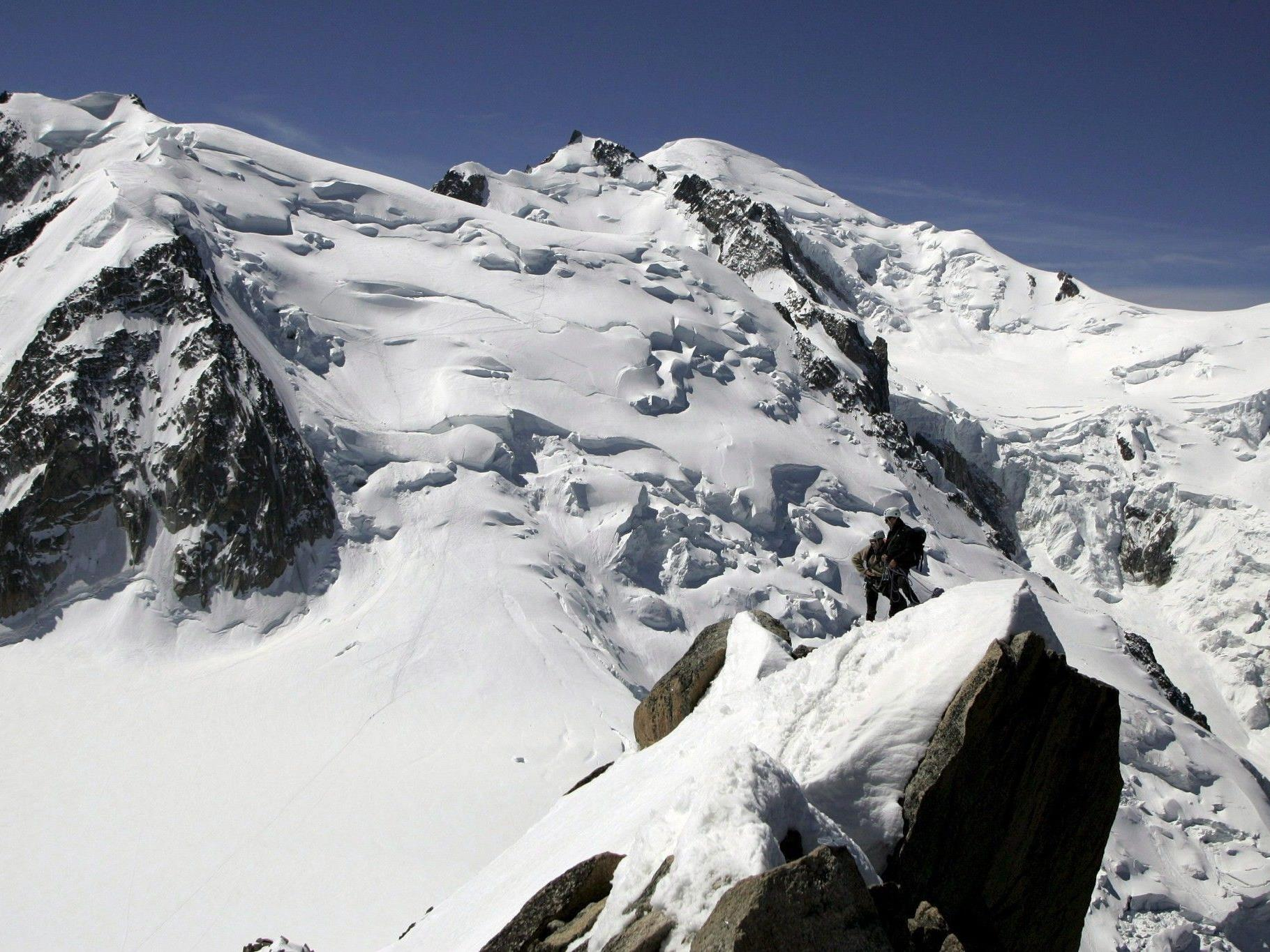 Rettungskräfte im Großeinsatz am Mont Maudit