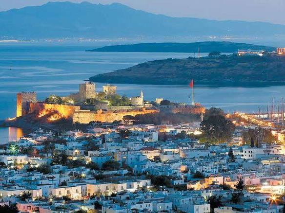 Ein herrlicher Panoramablick auf die Bucht mit ihrem natürlichen Hafen