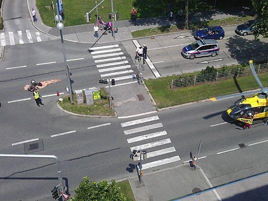 Unser Leserreporter sah, dass in Alt Erlaa ein Unfall geschehen war