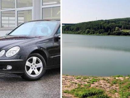 Dieser schwarze Mercedes, der dem Mordopfer vom Wienerwaldsee gehörte, wurde nun gefunden