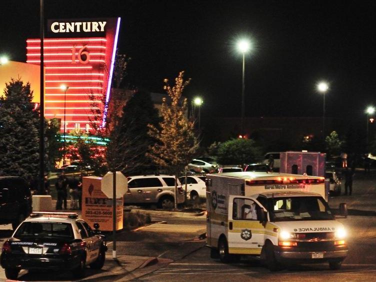 Amokläufer richtete Blutbad in Kino in Aurora bei Denver an.
