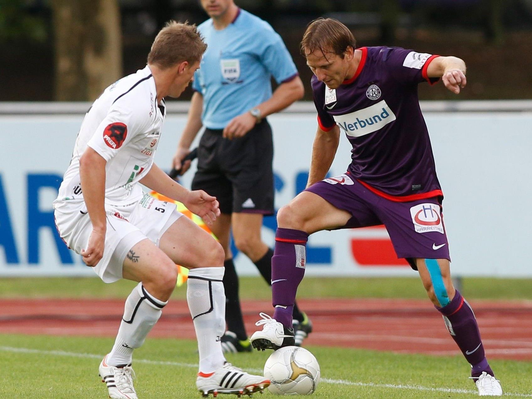 Die Wiener Austria konnte das Nachtragsspiel gegen Aufsteiger WAC mit 1:0 für sich entscheiden.
