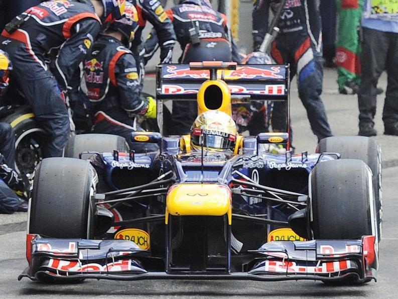 Sebastian Vettel beim Formel 1 Grand Prix in Hockenheim.