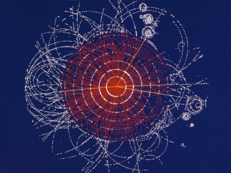 Illustration: Der mögliche Zerfall des Higgs-Bosons.