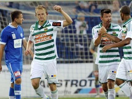 Rapid Wien blieb am Ball: Sieg gegen den SC Wiener Neustadt am Samstag.