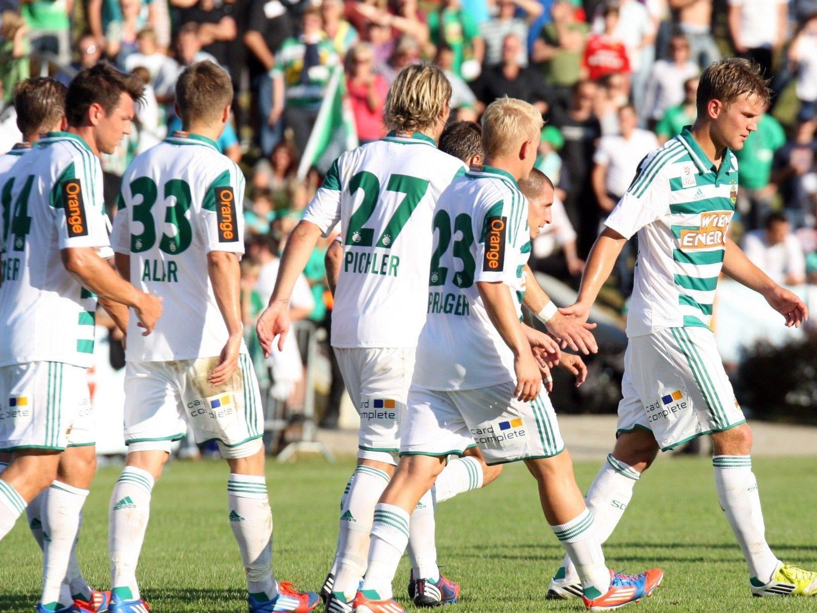 Rapid trifft ind er Europa League-Quali auf Vojvodina Novi Sad.