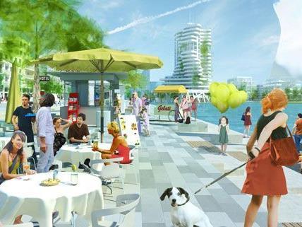 So soll der fertige Stadtteil aussehen, für den ersten Bewohner der Seestadt Aspern gestaltet sich der Ausblick noch ein wenig anders.