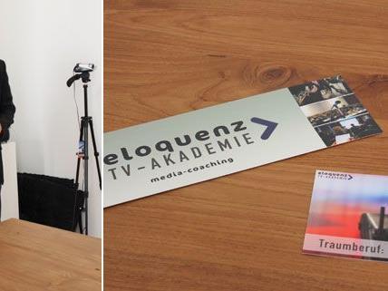 """Alex Stranig unterrichtet in der """"eloquenz"""" TV-Akademie das Handwerk des Moderierens."""