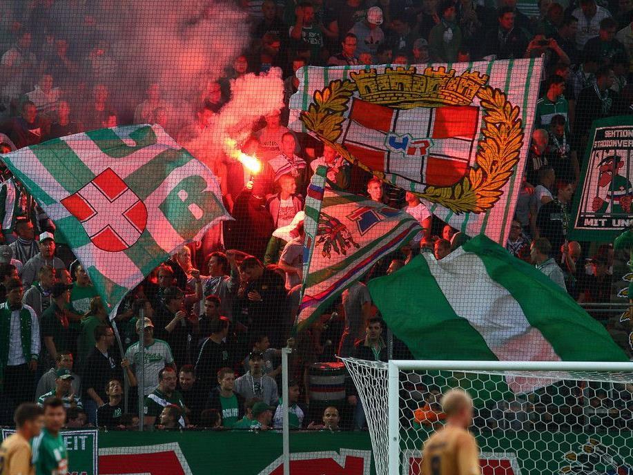 Ausschreitungen beim Spiel Rapid gegen FC Wacker Innsbruck