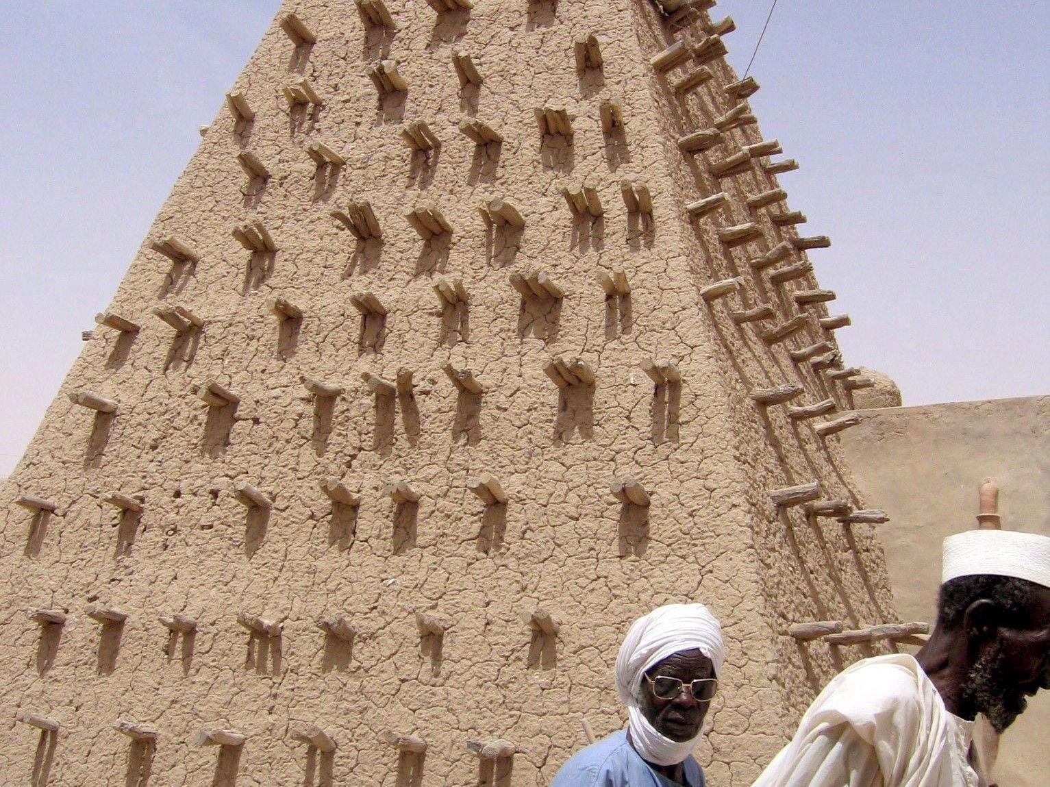 Minarett der Lehm-Moschee in Timbuktu.