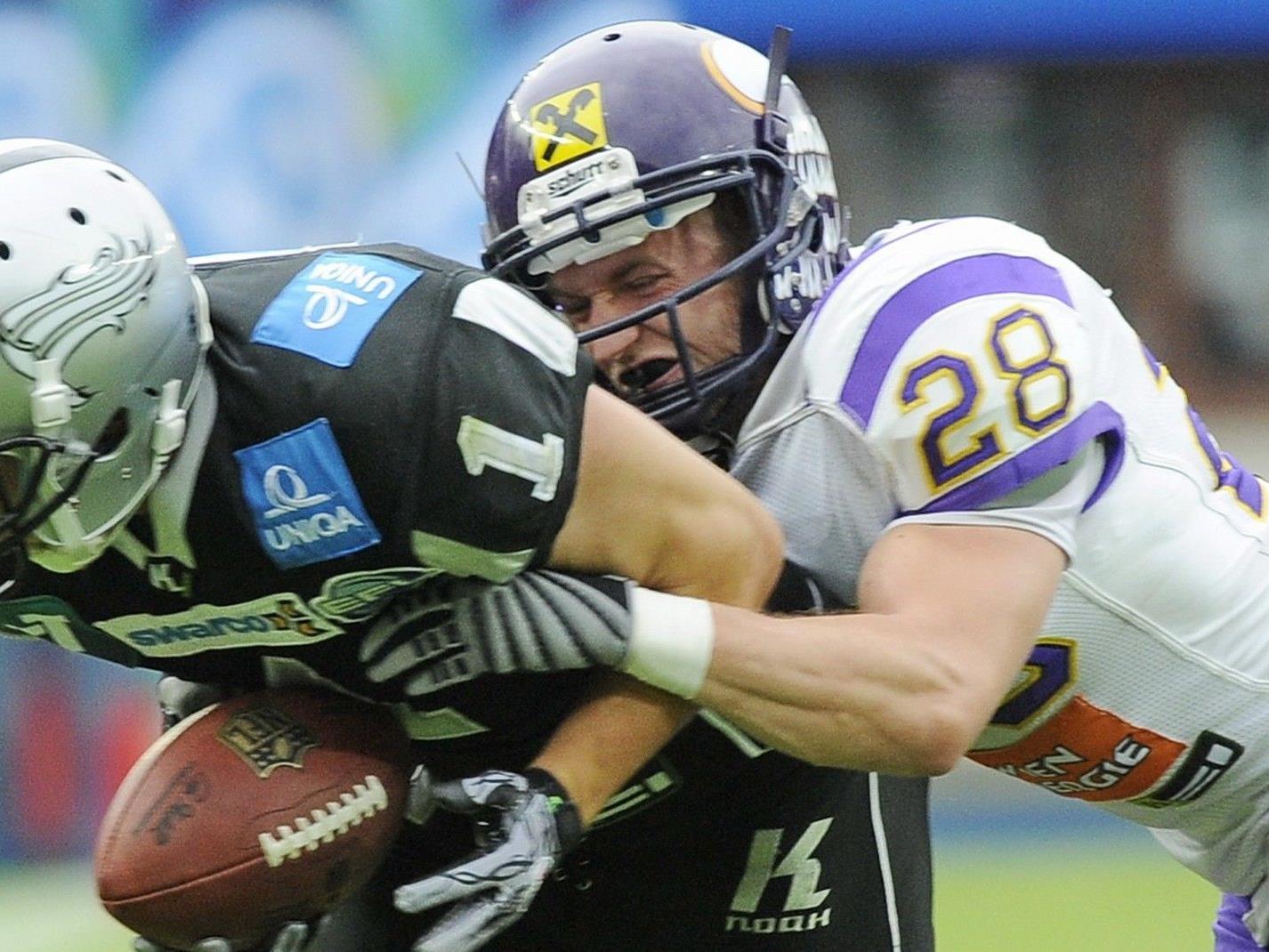 Die Raiffeisen Vikings treffen in der Austrian Bowl erneut auf die Tirol Raiders.