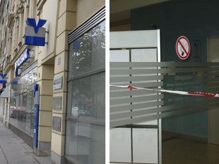 Diese Volksbank in Wien-Donaustadt wurde am Freitag überfallen.