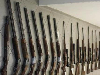 Zahlreiche Langwaffen befanden sich unter dem Diebesgut.