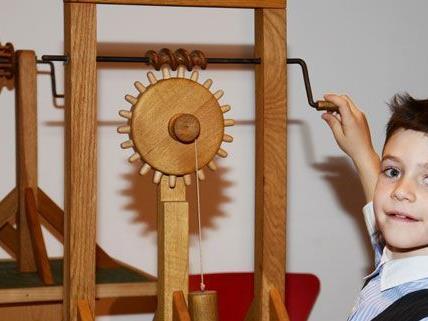 Da Vincis Erfindungen, zum Ausprobieren in Wien.
